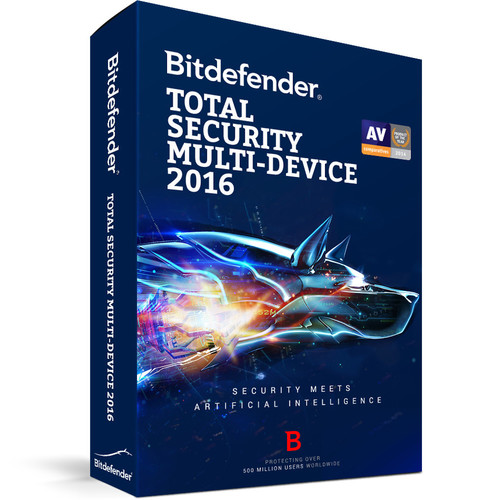 Bitdefender Total Security Multi-Device 2016 (5-Device License, 3 Year, Download)
