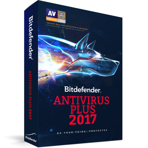 Bitdefender Antivirus Plus 2017 (3 Users, 1-Year License, Download)