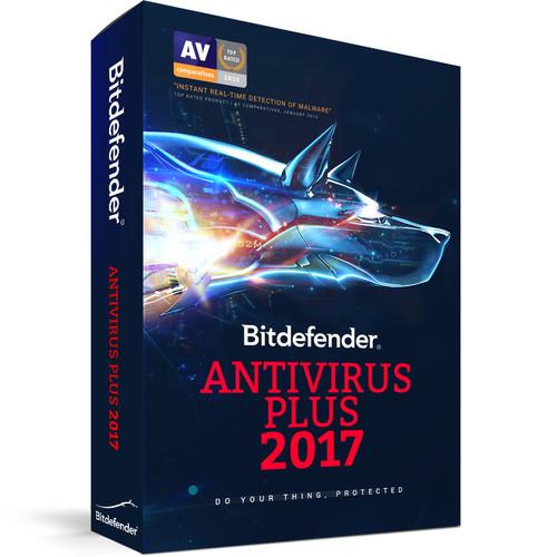 Bitdefender Antivirus Plus 2017 (3 Users, 2-Year License, Download)