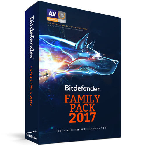 Bitdefender Family Pack 2017 (Unlimited Users, 3-Year License, Download)