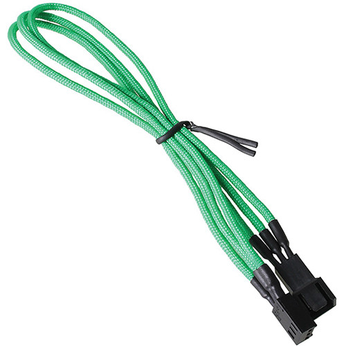 "BitFenix Alchemy Fan Extension Cable (11.8"", Green Sleeve/Black Connectors)"