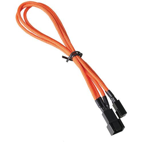 """BitFenix Alchemy Fan Extension Cable (11.8"""", Orange Sleeve/Black Connectors)"""