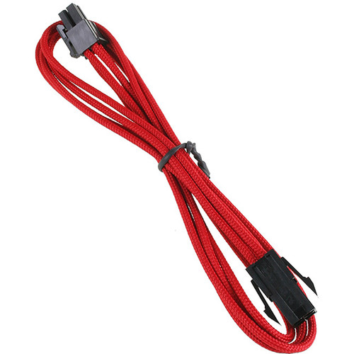 "BitFenix Alchemy ATX Extension Cable (17.7"", Red Sleeve/Black Connectors)"