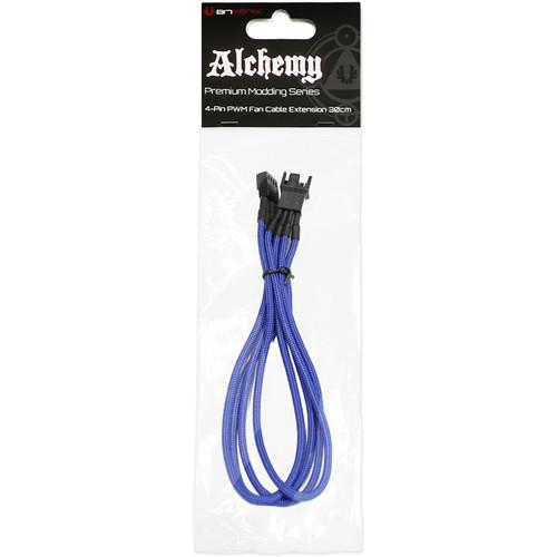 """BitFenix Alchemy PWM Fan Extension Cable (11.8"""", Blue Sleeve/Black Connectors)"""