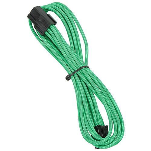 "BitFenix 6-Pin Alchemy Video Card Extension Cable (17.7"", Green Sleeve/Black Connectors)"