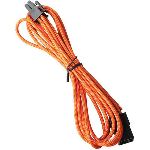 "BitFenix 6-Pin Alchemy Video Card Extension Cable (17.7"", Orange Sleeve/Black Connectors)"