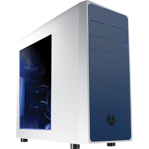 BitFenix Neos Mid-Tower Case (Window, White/Blue)