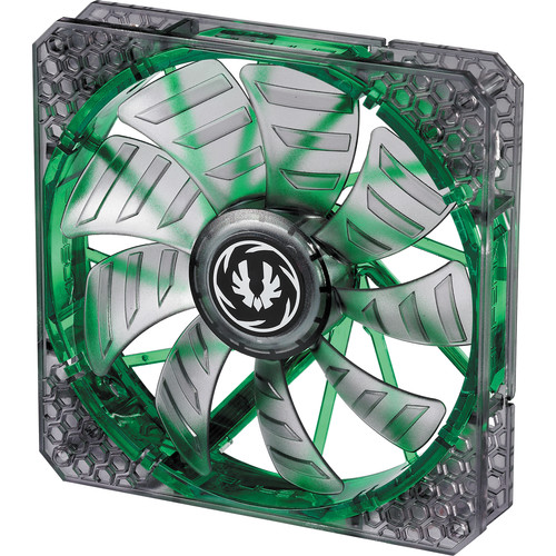 BitFenix Spectre Pro 140mm LED Case Fan (Green LEDs, Black Frame)
