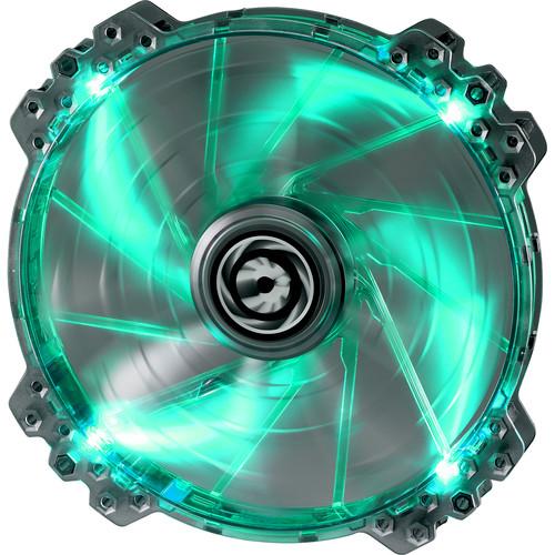 BitFenix Spectre Pro 200mm LED Case Fan (Green LEDs, White Frame)