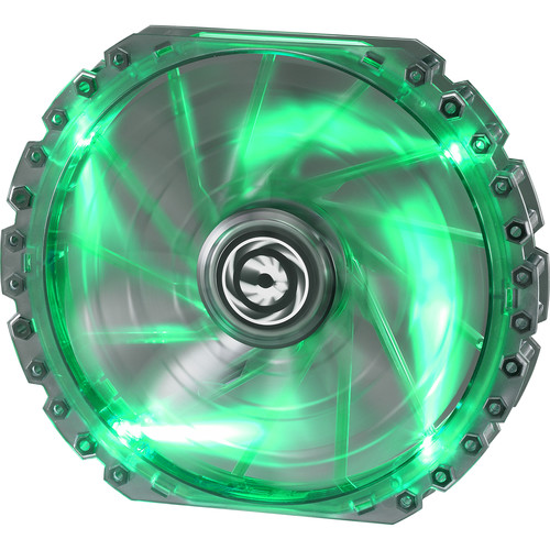 BitFenix Spectre Pro 230mm LED Case Fan (Green LEDs, White Frame)