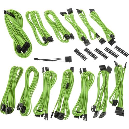 BitFenix SSC-Series Alchemy 2.0 Modular Multi-Sleeved Cable Kit (Nvidia Green)