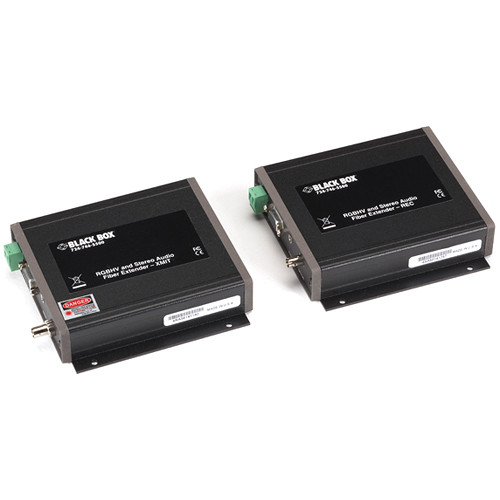 Black Box AC1020A Multimedia (VGA/Audio) over Fiber Single-Access Extender Kit