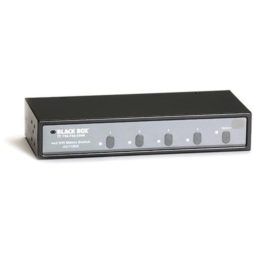 Black Box 4 x 2 DVI Matrix Switch with Audio