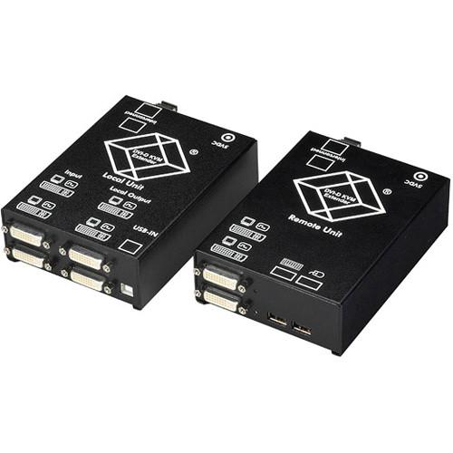 Black Box ACS4201A-R2-SM ServSwitch KVM (Dual-DVI/USB) over 2-Fiber Dual-Access Extender Kit