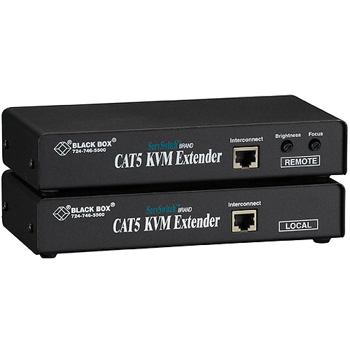 Black Box ACU1001A ServSwitch KVM (VGA/PS/2) over CAT5 Single-Access Extender Kit