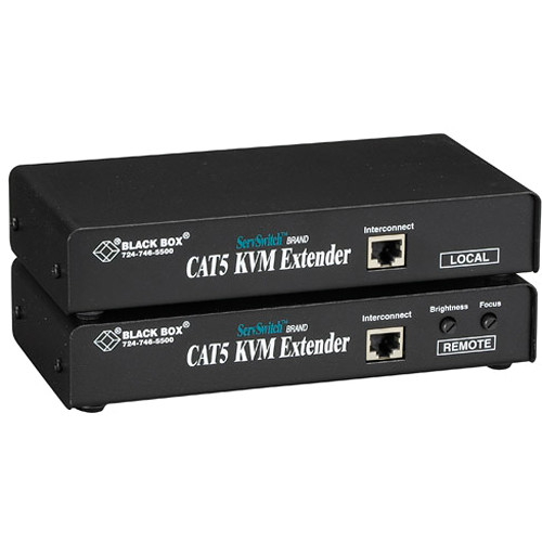 Black Box ACU1002A ServSwitch KVM (VGA/PS/2/Serial) over CAT5 Single-Access Extender Kit