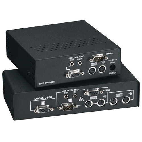 Black Box ACU2028A ServSwitch KVM (VGA/PS/2/Audio/Serial) over CATx Dual-Access Extender Kit