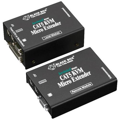 Black Box ACU3009A ServSwitch Micro KVM (VGA/PS/2) over CAT5 Dual-Access Extender Kit