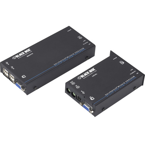 Black Box Wizard KVM VGA, USB, Audio over CATx Dual-Access Extender