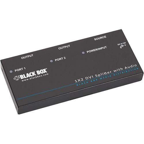 Black Box 1x2 DVI-D Splitter with Audio & HDCP
