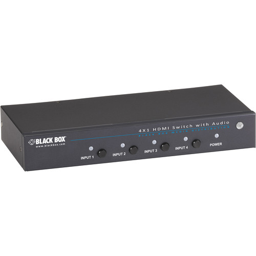 Black Box 4 x 1 HDMI Switch with 3.5mm Audio and Serial Control
