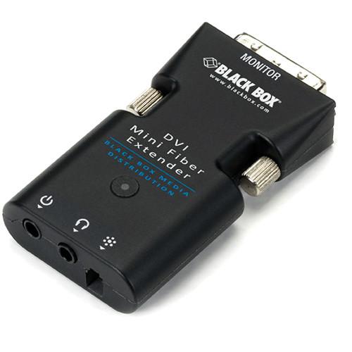 Black Box Mini Extender Receiver for DVI-D & Stereo Audio over Fiber