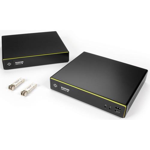 Black Box Emerald 4K DisplayPort IP KVM Extender Kit Single-Head V-USB 2.0, Audio, Virtual Machine Access