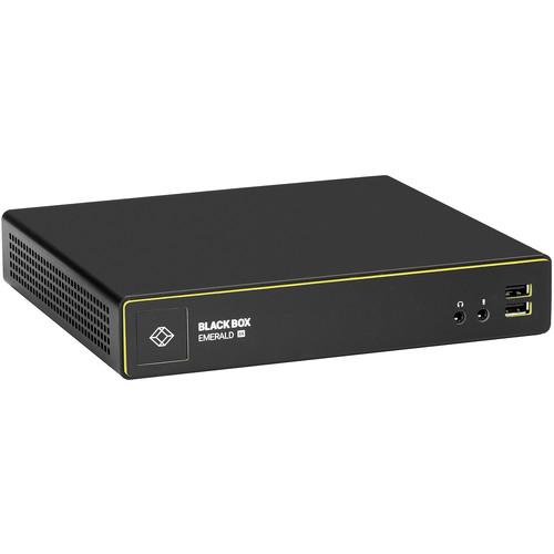 Black Box Emerald 4K DisplayPort KVM over IP Extender Receiver - Single-Head V-USB 2.0, Audio, Virtual Machine