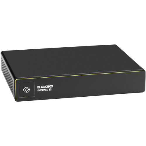 Black Box Emerald 4K DisplayPort KVM over IP Extender Transmitter - Single-Head, V-USB 2.0, Audio