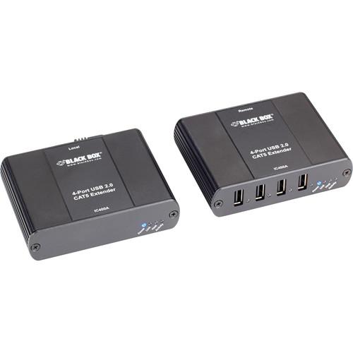 Black Box 4-Port USB 2.0/1.1 CAT5 Extender Kit