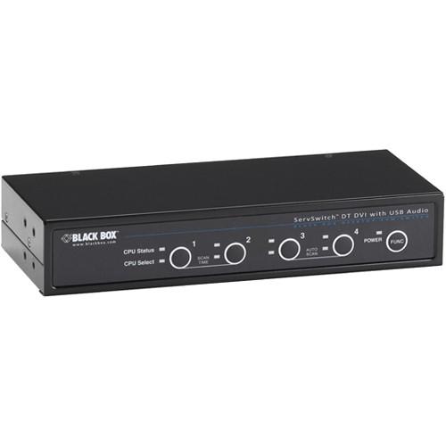 Black Box 4-Port ServSwitch DVI-D USB KVM Switch w/ Bi-Directional USB/Audio