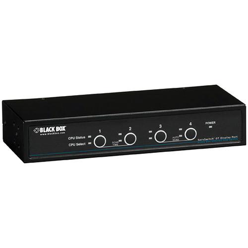 Black Box ServSwitch 4-Port DT DisplayPort KVM Switch with USB and Audio