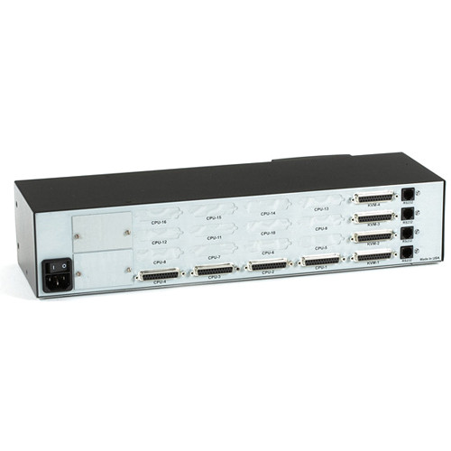 Black Box Matrix ServSwitch for PC with 4 Users x 4 CPUs (Full Chassis Style)