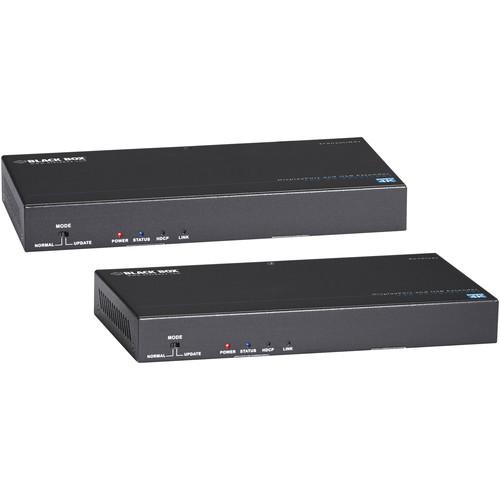 Black Box Video Extender - DisplayPort, RS-232, Audio, USB 2.0, 4K