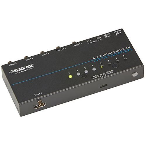 Black Box 4K HDMI Matrix Switch (4 x 2)
