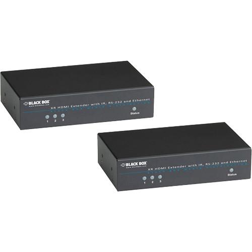 Black Box VX-HDMI-TP-E100M XR HDMI (HDMI/IR/Serial/Ethernet) over CATx Extender Kit