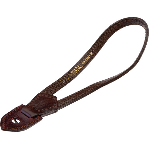 Black Label Bag Leather Wrist Strap (Brown)