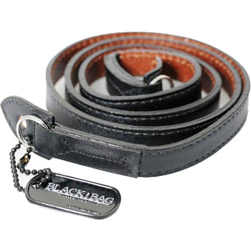 Black Label Bag M3 Style Leather Strap (Black / Pebbled Brown)