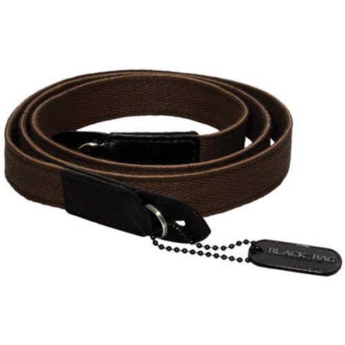 Black Label Bag Cloth Racing Strap (Brown with White Trim)