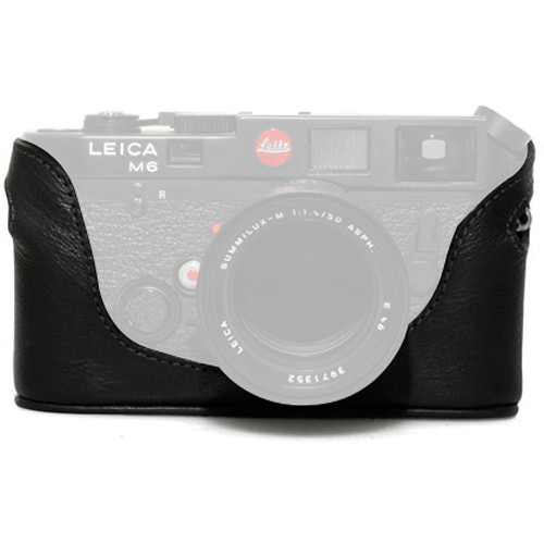 Black Label Bag Half Case for Leica M4, M6, M7, or MP Camera (Black)