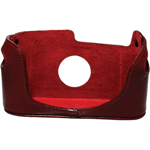 Black Label Bag Half Case for Leica M4, M6, M7, or MP Camera (Red)