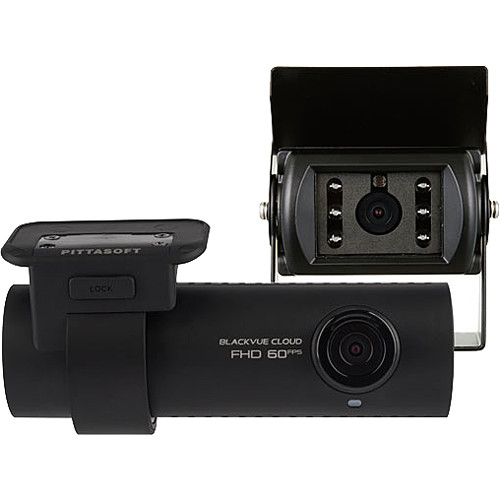 Black Vue DR750S-2CH TRUCK Dual Truck Dash Camera with Full HD Front Camera and Waterproof IR Rear Camera