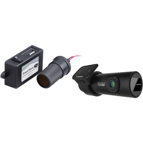 Black Vue 1080p Front and 720p Rear Dash Cameras with Battery Discharge Prevention Device Kit