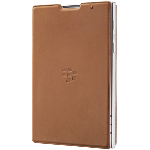 BlackBerry Passport Leather Flip Case (Tan)