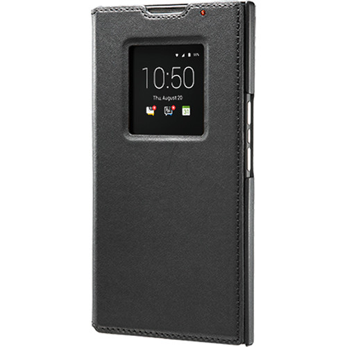 BlackBerry Leather Smart Flip Case for BlackBerry PRIV (Black)