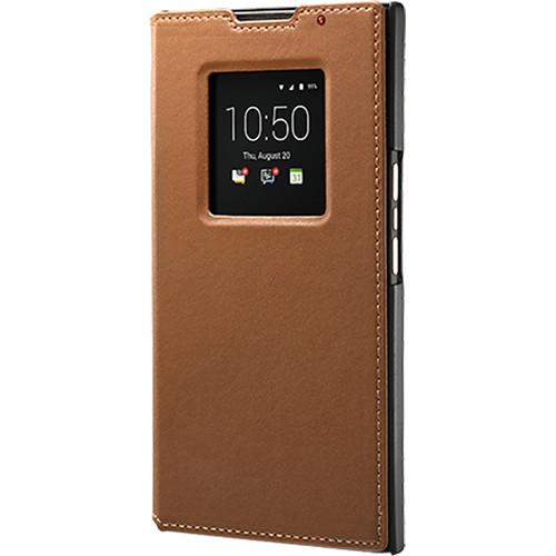 BlackBerry Leather Smart Flip Case for BlackBerry PRIV (Tan)