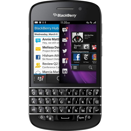 BlackBerry Q10 SQN100-1 16GB AT&T Branded Smartphone (Unlocked, Black)