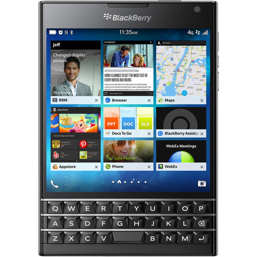 BlackBerry Passport SQW100-1 32GB Smartphone (Unlocked, Black)