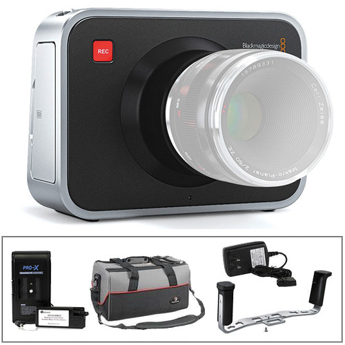 Blackmagic Design Cinema Camera EF Mount Kit w/Handgrip & External Battery