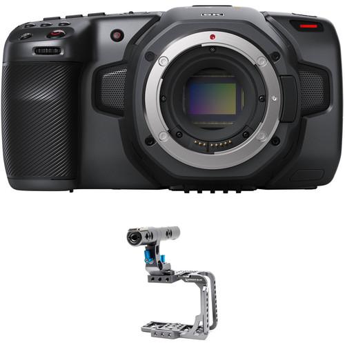 Blackmagic Design Pocket Cinema Camera 6K Kit w/ Kondor Blue Half Cage